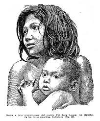 Retrato de una madre con su hijo