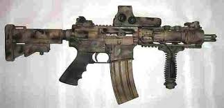 Assualt rifles like this one give individual soldiers tremendous firepower.