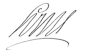 Louis XIV:  signature