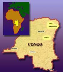 congo map Spari e paura, dal Congo notizie inviateci da suor Delia Guadagnini di Predazzo