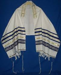A beautiful example of a Tallit, (Jewish prayer shawl worn while reciting morning prayers)